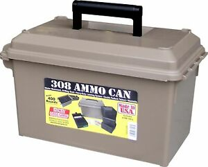 MTM 308 Cal Ammo Can includes 4 RM-100's Dk Earth large ACC308 Ammo Box