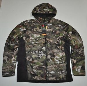 UNDER ARMOUR MEN'S 2XL UA STEALTH FULL ZIP HOODIE CAMO HUNT NWT