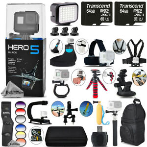 GoPro Hero5 Black 4K Camera + 6PC Graduated Filter + Backpack - 128GB Bundle Kit