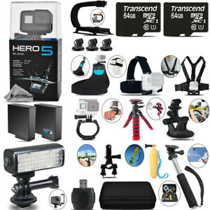 GoPro Hero 5 Black + Extra Battery & Much More! + 128GB - Loaded Saving Kit