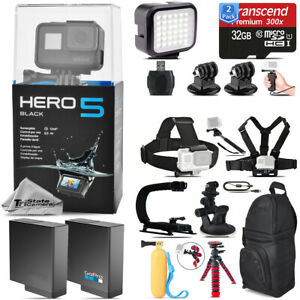 GoPro Hero 5 Black Camera+ Extra Battery & Much More! + 64GB - Loaded Bundle