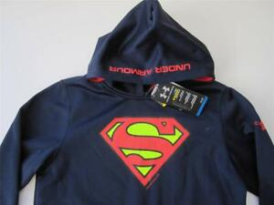 Under Armour Superman Alter Ego Boys Large 14-16 Cold Gear Storm Hoodie NWT $60