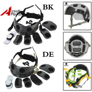 Tactical Hunting Helmet Dial Liner Kit for Ops-Core Fast MICH Helmet Paintball