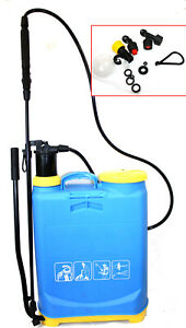 4 Gallon Backpack Manual Pump Water Sprayer Gardening Pesticides Fertilizers NEW