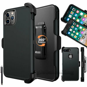 For iPhone 8 Plus Case iPhone 6 6s 7 X XR XS Max Belt Clip Holster Black Clear