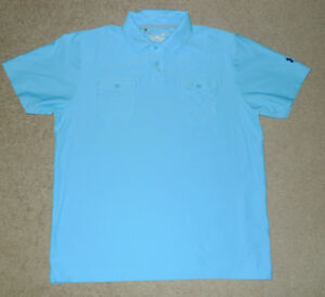 Mens Large L Under Armour UA Pocket Polo Golf Casual Athletic HeatGear Shirt