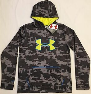 NWT youth Boys' YXS X-small UNDER ARMOUR hooded sweatshirt COLDGEAR hoodie camo