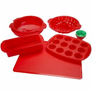 Silicone Bakeware Set 18-Piece Set including Cupcake Molds Muffin Pan Bread