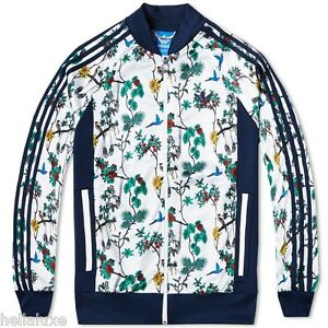 nwt~Adidas ISLAND SUPERSTAR Track Top sweat shirt AOP Jacket firebird~Men sz 2XL
