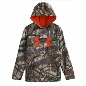 Under Armour Youth Camo Big Logo Hoodie (Mossy Oak Treestand) 1249748-905