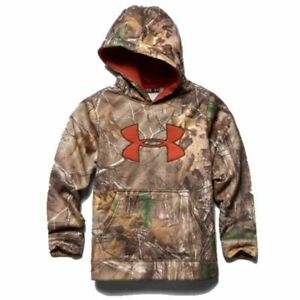 Under Armour Youth Camo Big Logo Hoodie (Realtree Xtra) 1249748-946