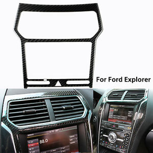 Carbon Fiber Interior AC Air Vent Navigator Trim Decor Sticker For Ford Explorer