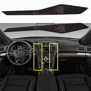 Carbon Fiber Interior Multimedia Center Control Dash Sticker For Ford Explorer