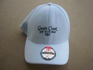 NEW WHITE GENTLE CREEK GOLF CLUB UNDER ARMOUR HAT CAP FITTED MDLG MEDIUMLARGE