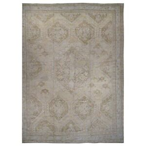 19'2''x24'7'' Hand-Knotted Antique Turkish Oushak Exc Cond Oversize Rug R39062