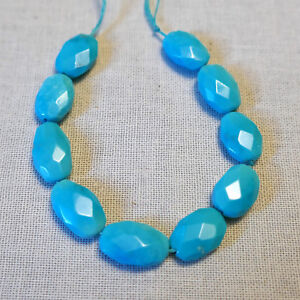 Sleeping Beauty Turquoise Faceted Nuggets (10)