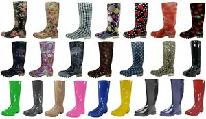 Shoes 18 Womens Rain Boots Rubber Pull On Garden 8 Colors Size 5 11 $26.99