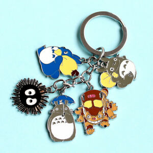 US Japanese Anime My Neighbor Totoro Keyring Key Chain Keyfob Gifts
