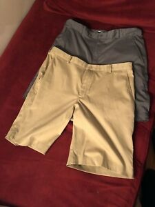 Mens NIKE FIT DRY  Golf Shorts Lot (3) Pair Size 36 Gray  Beige WHITE