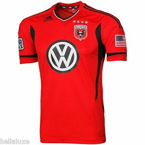 AUTHENTIC~Adidas DC UNITED Football Soccer GAME 3RD Jersey MLS USA Shirt~Mens XL