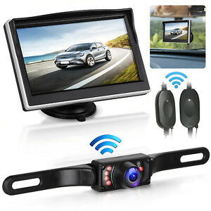 Car Backup Camera Rear View System Night Vision + Wireless 5