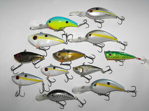 Strike King Red Eye Shad Sexy Shad and more modern Bass Fishing Lure lot Nice!