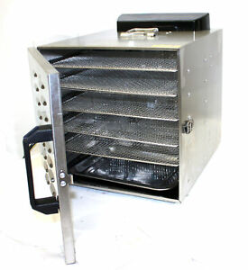Food Dehydrator Fruit Vegetable Meat Drying Machine Snack Dryer 6 Trays Stainles