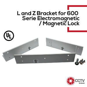 Access Control L&Z Bracket For 600Lbs Electromagnetic Lock UL Listed
