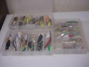 lot of 65 assorted   fishing lures