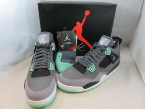 NEW Nike Air Jordan 4 Retro Green Glow Air Size 13 308497 033 w Dri-Fit Socks
