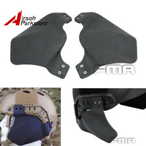 FMA Tactical Side Cover Ears Protector Black for OPS-CORE Fast Helmet Rail