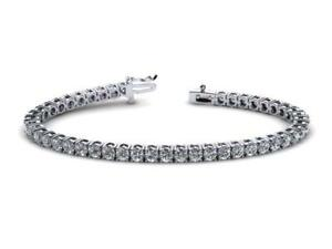 WOMEN 10.50 carats diamonds tennis bracelet white gold 14k     WG5383