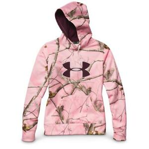 BN~Under Armour UA PERFORMANCE CAMO BIG LOGO HOODY Sweat shirt Hooded~Women sz M
