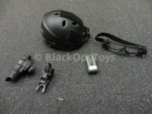 16 scale US Navy Seal Night Ops Jumper Pro-Tech Helmet W NVG & Ballistic Goggl