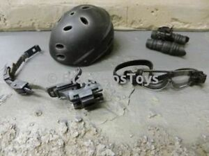 16 scale Hot Toys US Navy SEAL Team 4 NSW Unit Black Bump Helmet W NVG NEW