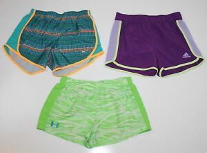 Lot of 3 Girls Size XL NIKE Tempo ADIDAS UNDER ARMOUR Athletic Running Shorts