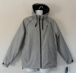 nwt~NEW BALANCE RIP JACKET Hoody Sweat Shirt WATER & WIND RESISTANT coat~Men Med