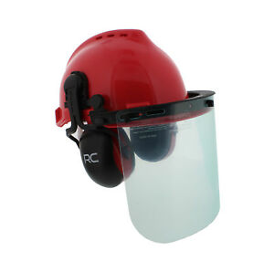 Forestry amp; Construction Safety Helmet – Vented Hard Hat with Visors amp; Earmuffs