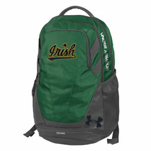 Notre Dame Fighting Irish Under Armour Hustle 3.0 Performance Backpack - Green