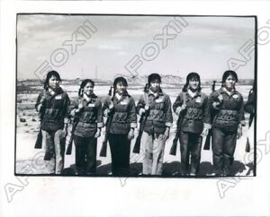 1975 Ta Ching Oil Field China Womens Extraction Team Gun Training Press Photo