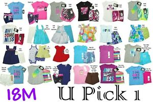 Nike Under Armour Tee Shorts Set Outfit Girls Top Bottoms Shirt Summer Carters