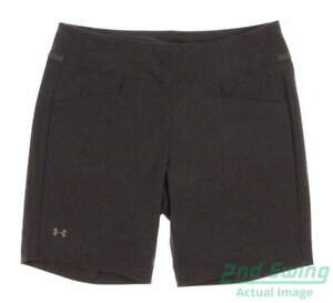 New Womens Under Armour Essential Stretch Golf Shorts Size Small S Gray MSRP $70