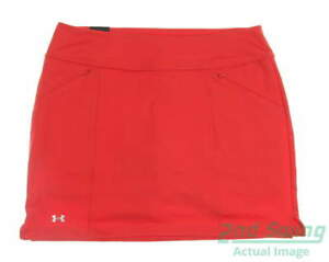 New Womens Under Armour Golf Skort Size Large L Red MSRP $65 UW6662