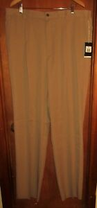 NEW NIKE GOLF FIT DRY men sz 42 Athletic light brown khaki pant pleated front