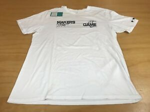 NIKE MAKERS LAB MAKERS OF THE GAME DRI-FIT SHORT SLEEVE GRAPHIC T-SHIRT WHITE XL