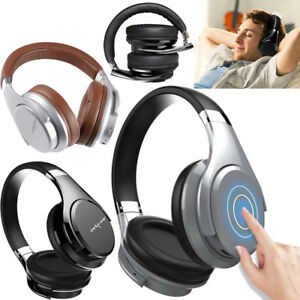 Deep Bass Portable Touch Control Wireless Bluetooth Over-ear Headphones with Mic