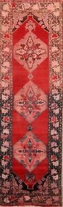 Antique Geometric Runner 4x11 Yahyali Oushak Turkish Oriental Rug 10' 7