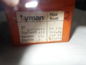 new Lyman 429244 2 cavity bullet mold 44 cal swc cc 245 gr reloading