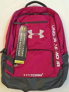 NWT backpack UNDER ARMOUR UA Hustle STORM water resistant YOUTH school bag