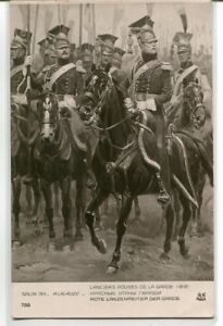 Lanciers Rouges Garde French Army Lancers Cavalry France Military postcard
